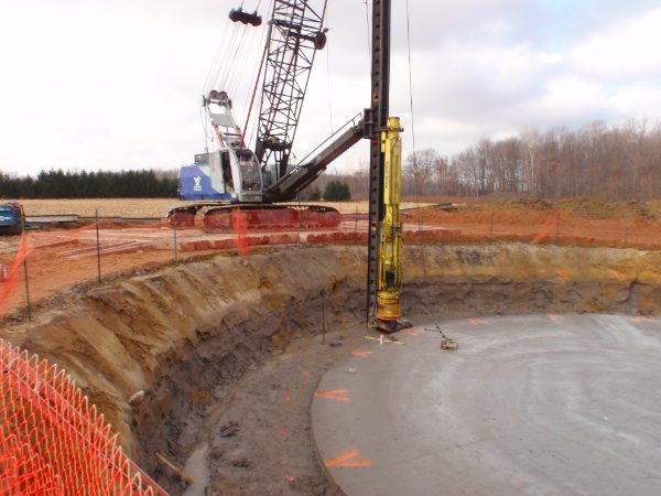 Bearing piles required due to soil conditions